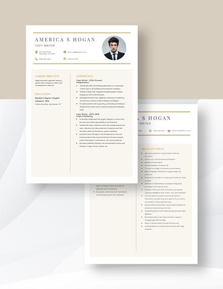 Copywriter Resume Download