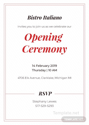 Opening ceremony invitation card template in adobe illustrator click to see full template opening ceremony invitation card stopboris Choice Image