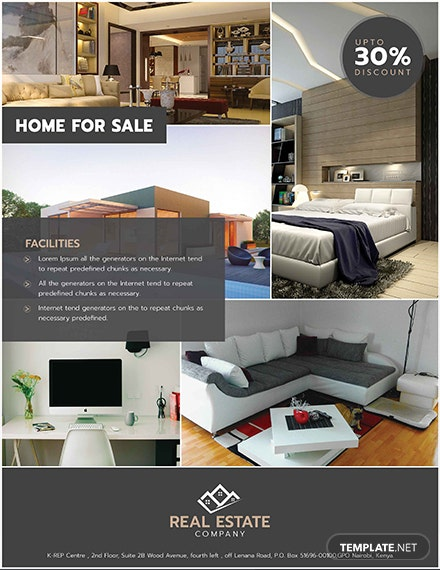Free Sample Real Estate Flyer Template
