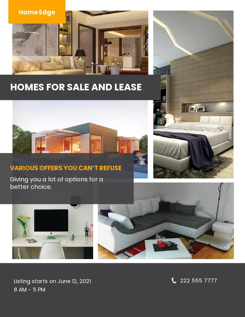 Sample Real Estate Flyer Template.jpe