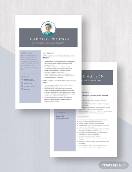 Certified Legal Nurse Consultant Resume  Download