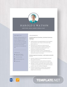 Certified Legal Nurse Consultant Resume Template