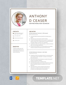 Certified Medication Technician Resume Template