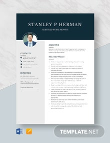 Certified Nurse Midwife Resume Template