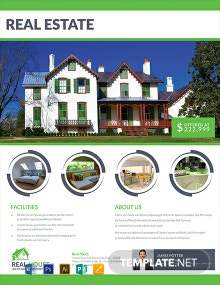 Real Estate House Sale Flyer Template