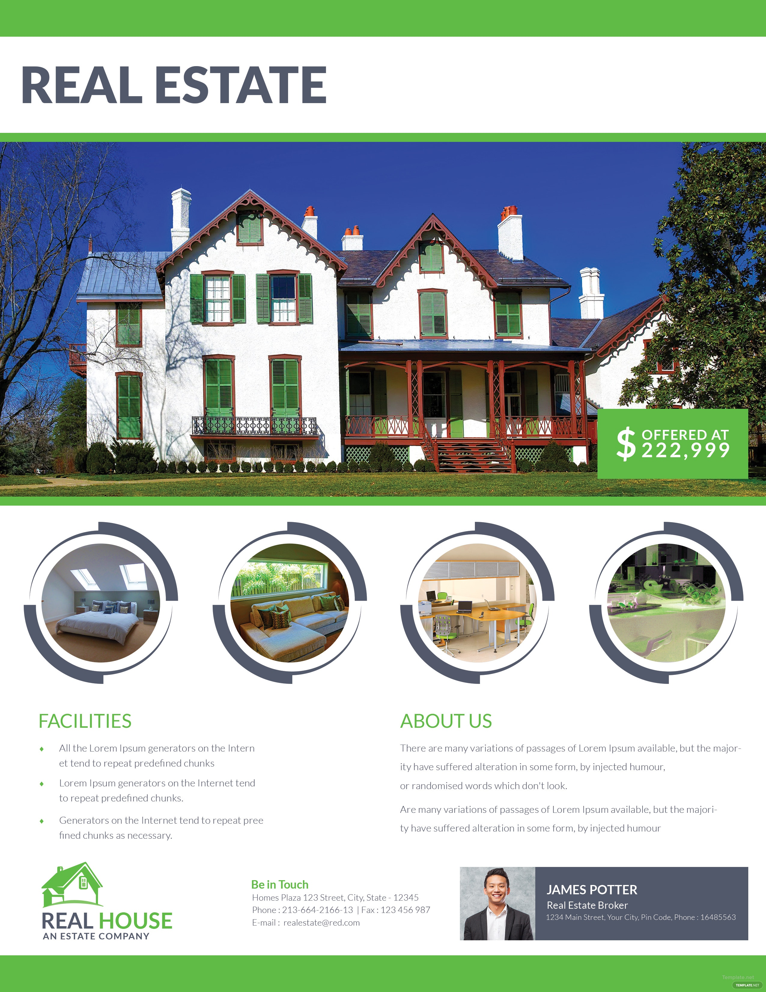 Real Estate House Sale Flyer Template in Adobe Photoshop ...