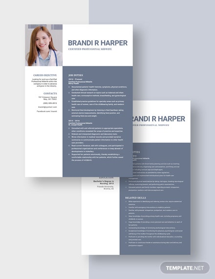 Certified Professional Midwife Resume  Download