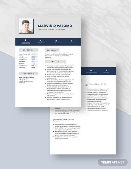 Certified Systems Engineer Resume  Download