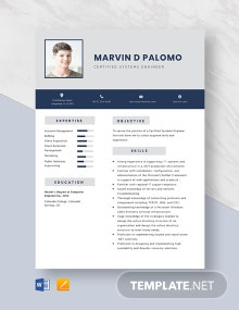 Certified Systems Engineer Resume Template
