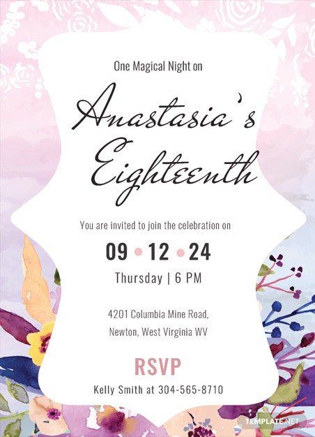 free boho debut invitation template in psd  ms word