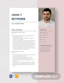CNC Programmer Resume Template