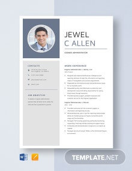 Cognos Administrator Resume Template