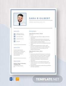 Cognos Business Analyst Resume Template