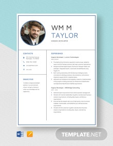 Cognos Developer Resume Template