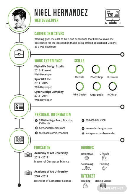 Free Minimalist Infographic Resume Template