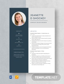 Composite Design Engineer Resume Template