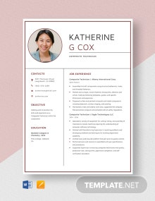 Composite Technician Resume Template
