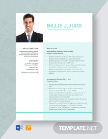 Developmental Educator Resume Template