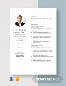 Dispatch Manager Resume Template