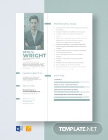 Environmental Health Specialist Resume Template