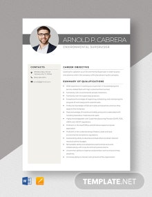 Environmental Supervisor Resume Template