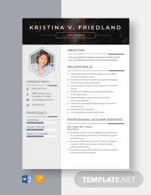 Epic Trainer Resume Template