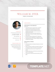 Family Physician Resume Template