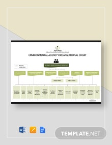 Free Environmental Agency Organizational Chart Template