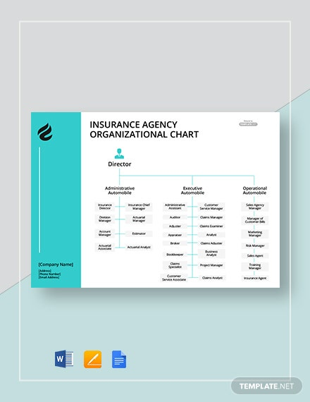 Free Insurance Agency Organizational Chart Template