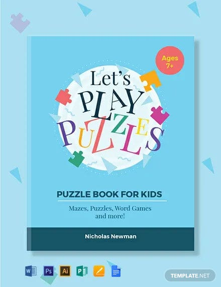 Kids Puzzle Book Cover Template