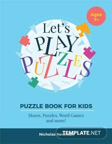 Kid's Puzzle Book Cover Template