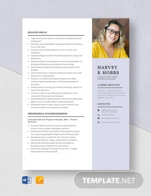 Computer Software Program Manager Resume Template