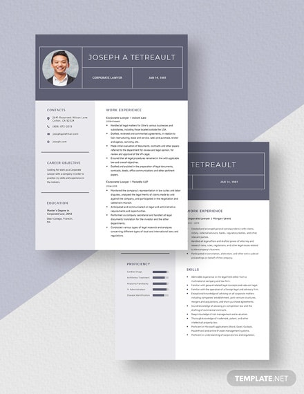 Corporate Lawyer Resume  Download