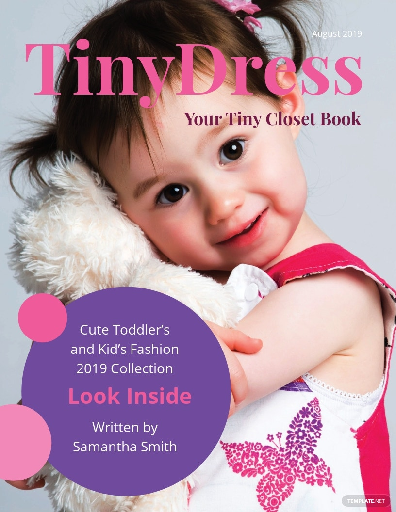 Kid's Fashion Book Cover Template