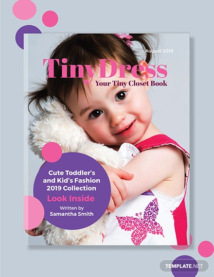 Free Kid's Fashion Book Cover Template
