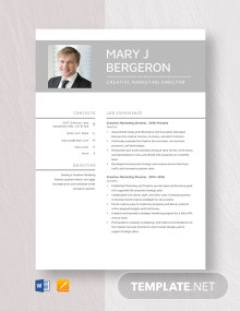 Creative Marketing Director Resume Template