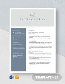 Creative Services Director Resume Template