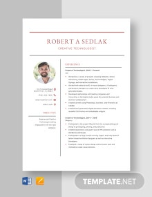 Creative Technologist Resume Template