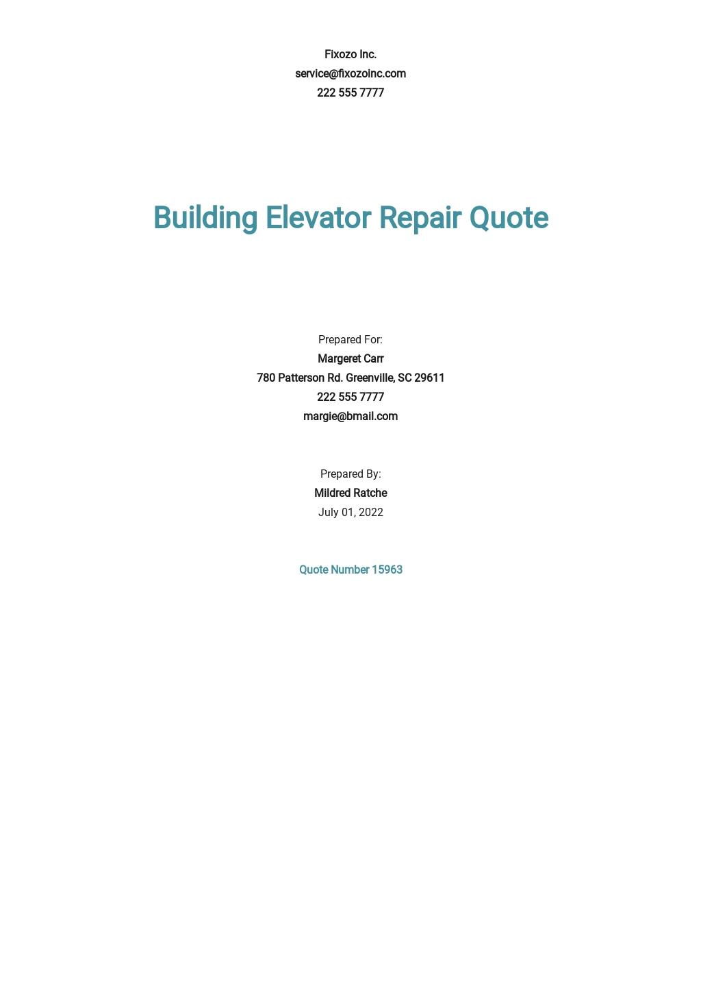 Free Building Repair Quotation Template.jpe