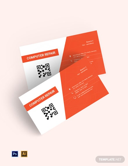 Free Computer Repair Business Card Template