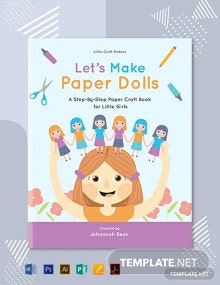 Free Paper Craft Book Cover Template