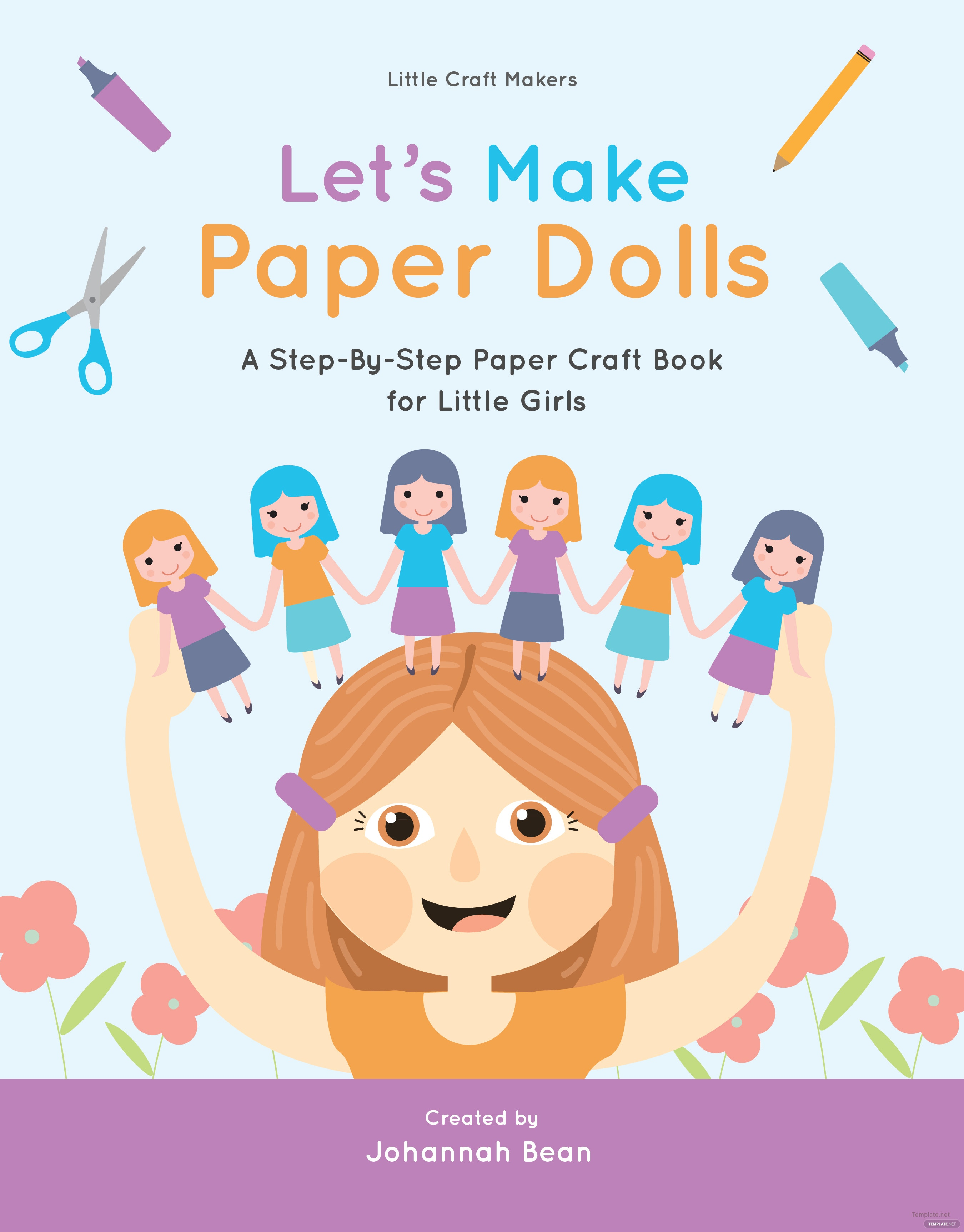 Book Cover Template Illustrator Free ~ Paper craft book cover template in adobe photoshop