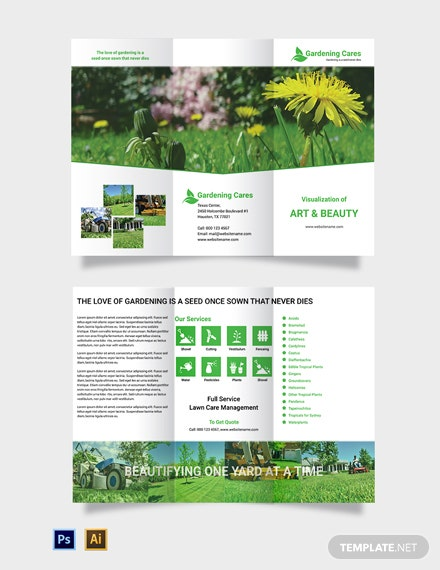 Gardening Tri-Fold Brochure Template