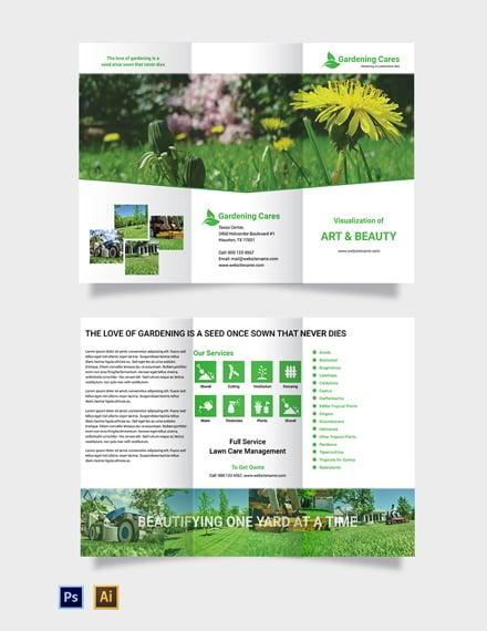 Free Gardening Tri-Fold Brochure Template