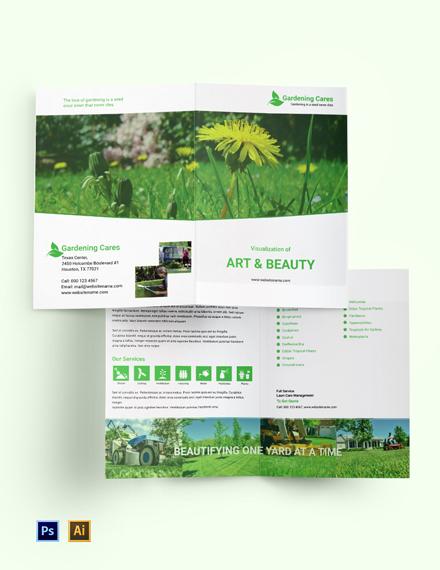 Gardening Bi-Fold Brochure Template