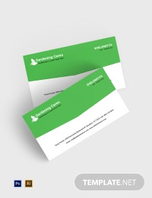 Free Gardening Business Card Template