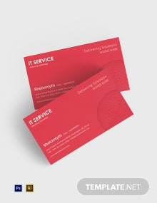 Free IT Service Business Card Template