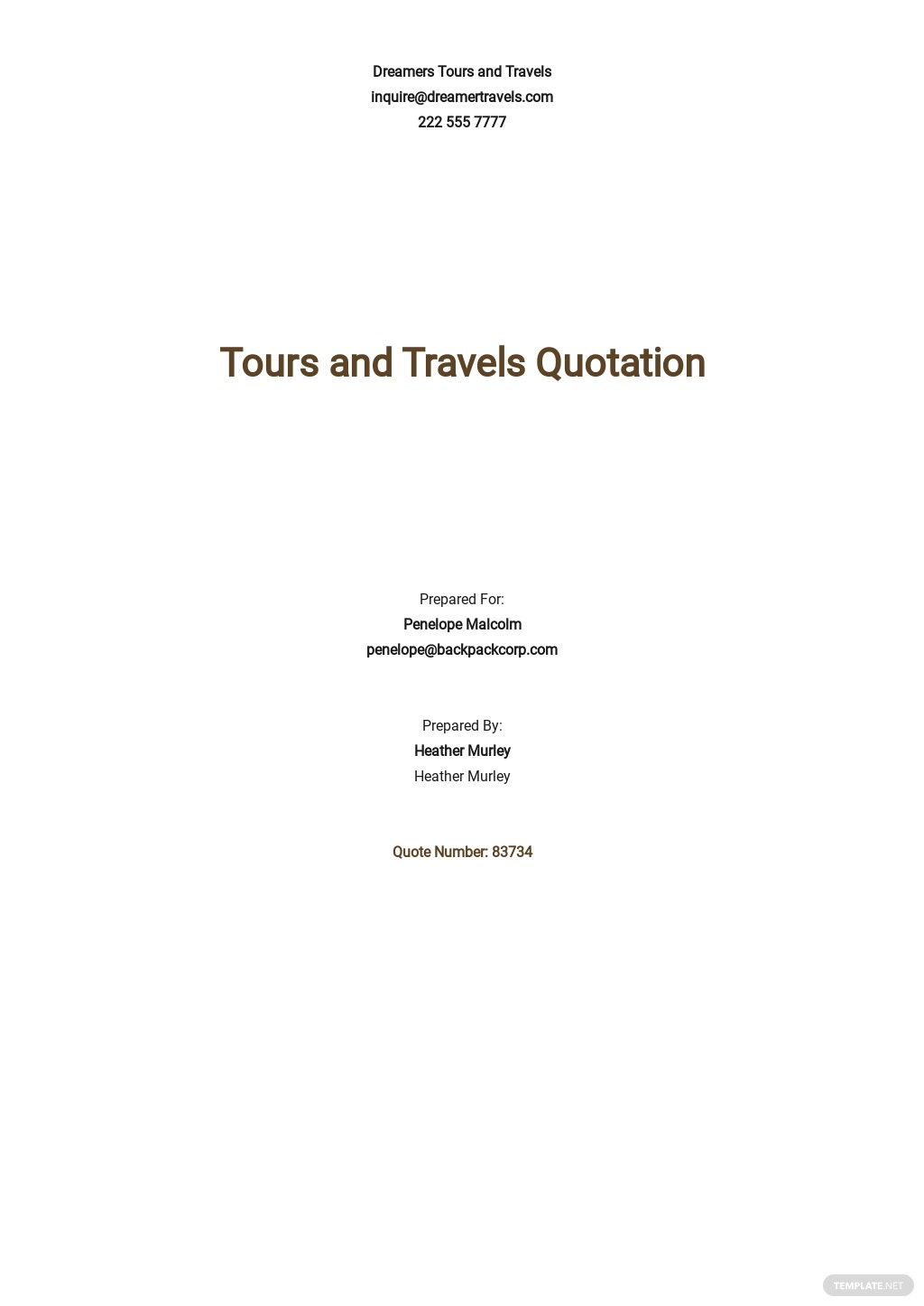 Free Tours and Travel Quotation Template.jpe