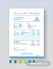 Free Travel Expense Quotation Template