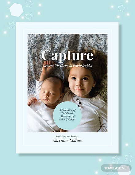 Free Kid's Photo Book Cover Template